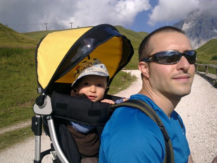 trekking del cristo pensante con bimbo in spalla
