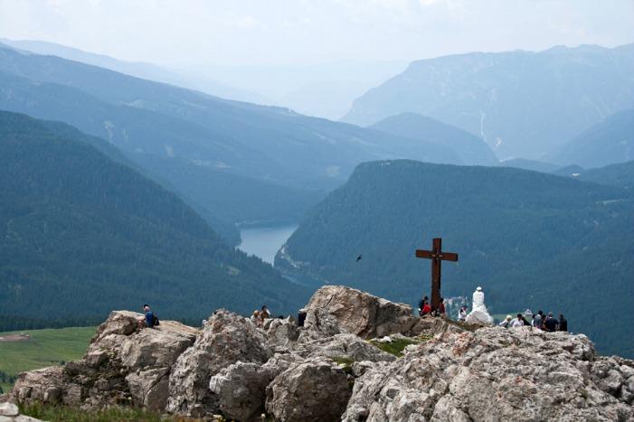 trekking del cristo pensante vista sulla valle