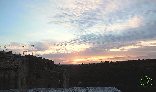 tramonto pitigliano