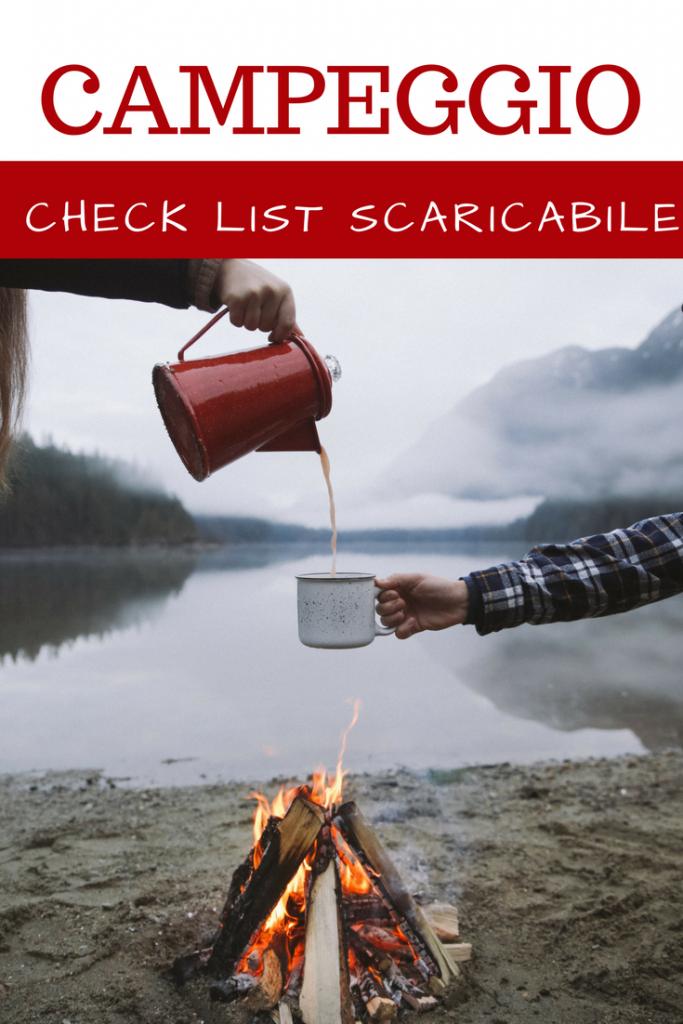 campeggio lista cose da portare