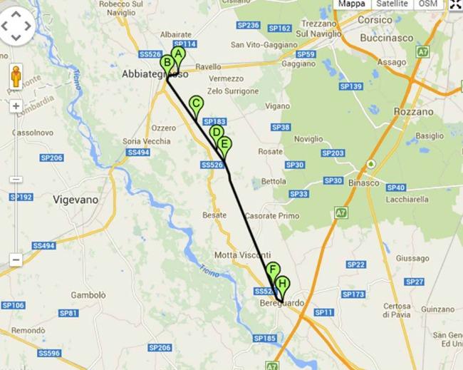 18km da Abbiategrasso a Bereguardo - Credits pisteciclabili.com