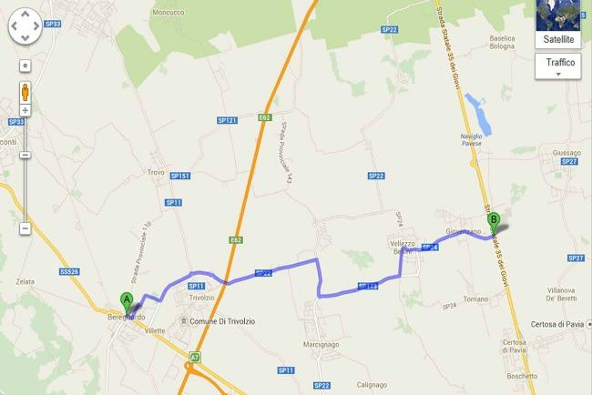 L'unico tratto di strada NON ciclabile che abbiamo percorso per raggiungere il Naviglio Pavese