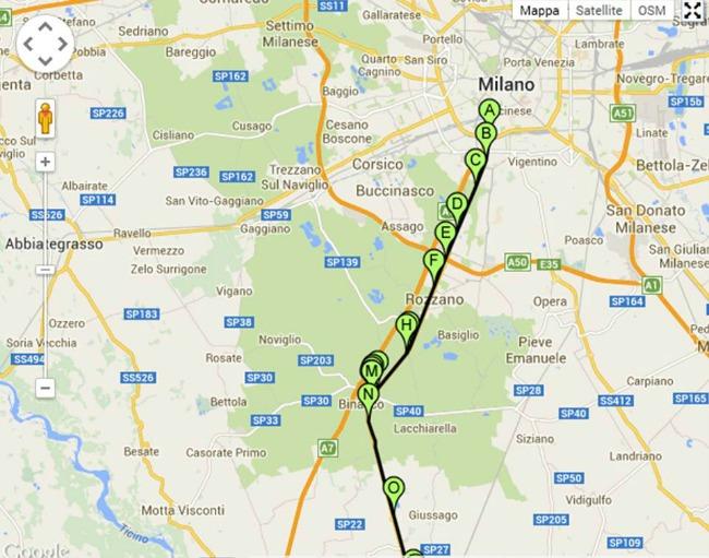 La ciclabile che da Binasco riporta a Milano - Credits pisteciclabili.com