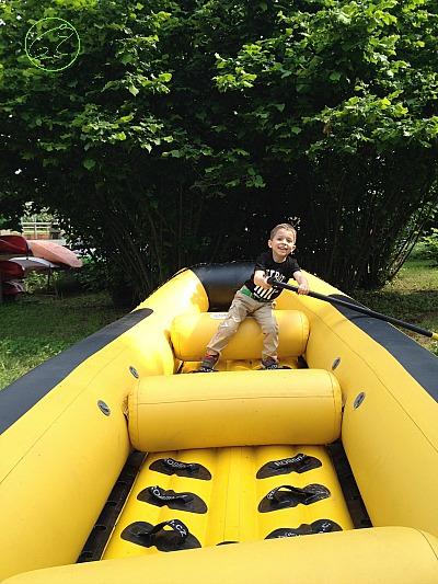 insegnare rafting ai bambini