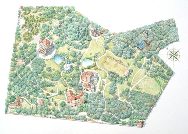 La mappa di Villa Torlonia