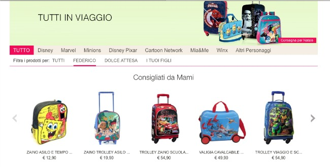 accessori da viaggio per bambini