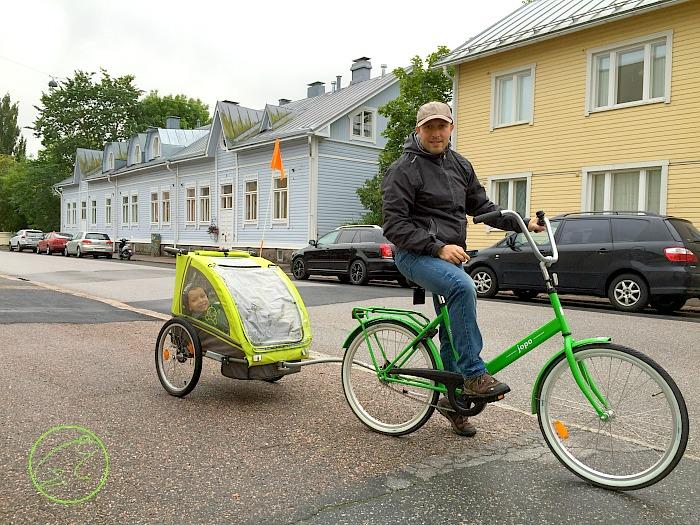 andare in bici in finlandia con bambini