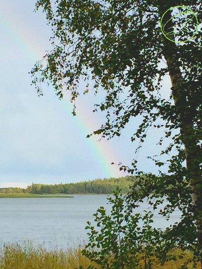 arcobaleno in finlandia con bambini