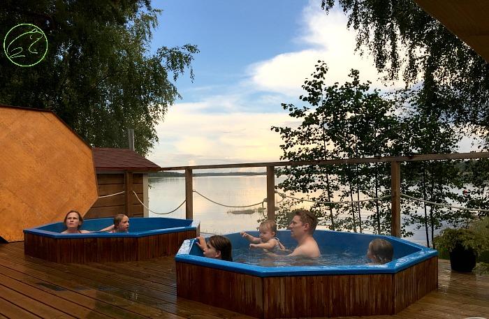 sauna in finlandia con bambini