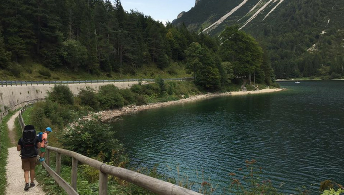 il sentiero del lago del predil