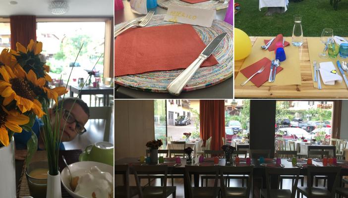 la sala ristorante e la cena dei bambini