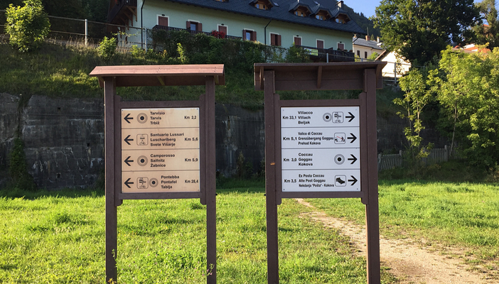 LAGHI DI FUSINE IN BICI CON BAMBINI DEVIAZIONE AUSTRIA SLOVENIA