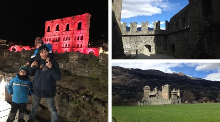 castelli, attività sulla neve e attrazioni ad aosta