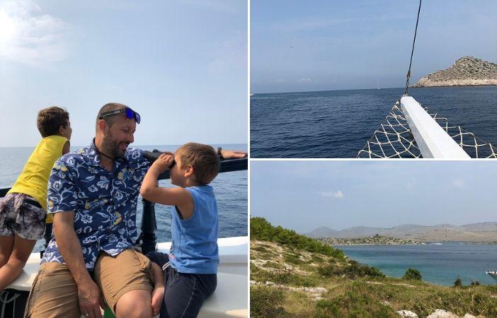 visiatre isole kornati croazia con bambini