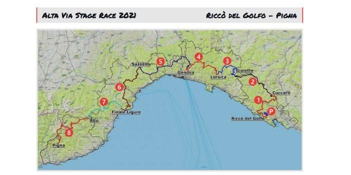 percorso alta via stage race